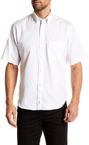 Tailorbyrd Short Sleeve Solid Trim Fit Woven Shirt