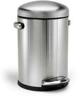 Simplehuman 4.5 Liter Mini Retro Round Step Garbage Can