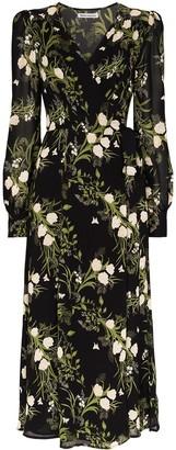Reformation Susanna floral-print midi wrap dress