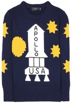 Coach Rocket intarsia wool sweater