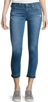AG Adriano Goldschmied The Stilt Raw-Edge Cropped Jeans, 21 Years Breathless