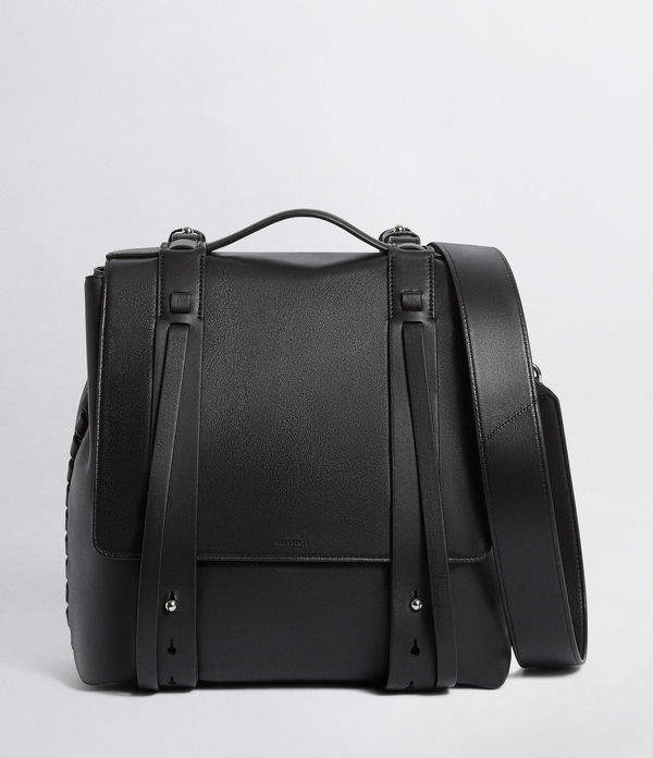 AllSaints Fin Leather Shoulder Backpack