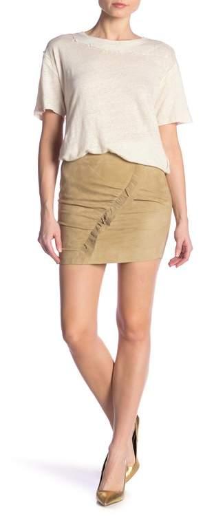 IRO Cerry Front Ruffle Mini Skirt