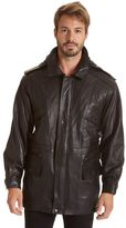 Men's Excelled Lambskin Leather Hooded Parka
