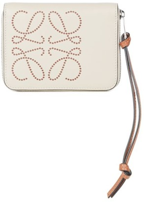 Loewe Dotted Leather Zip-Around Wallet