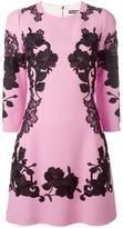 Dolce & Gabbana rose embroidered dress - women - Silk/Cotton/Polyester/Wool - 48