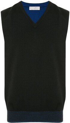 Gieves & Hawkes V-neck knitted vest