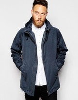 Nudie Jeans Nudie Hooded Jacket Vilgot Waterproof - Blue