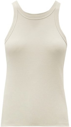 Totême Espera Ribbed Cotton-blend Tank Top - Beige