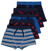 George 5 Pack Assorted Trunks