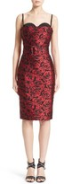 Michael Kors Women's Rose Jacquard Bustier Sheath Dress