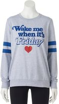 """Juniors' """"Wake Me When It's Friday"""" Lomg Sleeve Graphic Tee"""