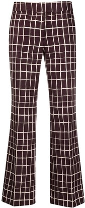 Marni Check-Print Straight Trousers