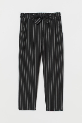 H&M Paper-bag Pants - Black