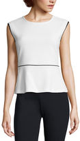Liz Claiborne Sleeveless Crew Neck T-Shirt-Womens