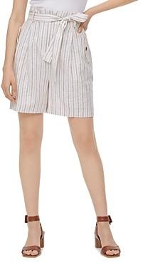 Calvin Klein Striped Linen-Blend Shorts