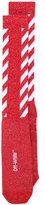 Off-White diagonals socks - women - Cotton/Nylon/Polyester/Spandex/Elastane - One Size
