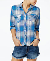 Volcom Juniors' Kindling Cotton Plaid Shirt