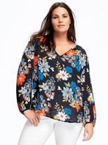 Old Navy Crepe Plus-Size Shirred Blouse