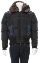 Roberto Cavalli Fur-Trimmed Puffer Jacket
