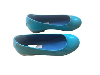Dolce & Gabbana Turquoise Leather Ballet flats