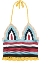 RED Valentino Crocheted Cotton Halter Top