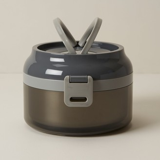 Oui Stainless-Steel Storm Grey Lunch Box