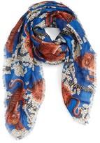 Gucci Men's Bengal Print Modal & Silk Scarf