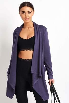 Beyond Yoga Deep Amethyst Everyday Drape Cardigan - XS - Purple