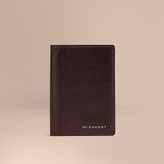Burberry London Leather Folding Card Case