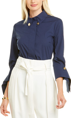 Elisabetta Franchi Button-Down Collar Blouse
