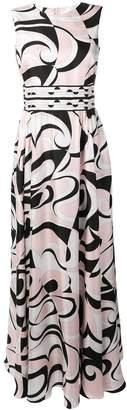 Emilio Pucci Fortuna Print Silk Maxi Dress