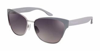 Tahari Women's TH620 Metal Cat-Eye Sunglasses with 100% UV Protection 58 mm