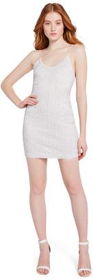 Alice + Olivia Nelle Sequin Fitted Mini Dress