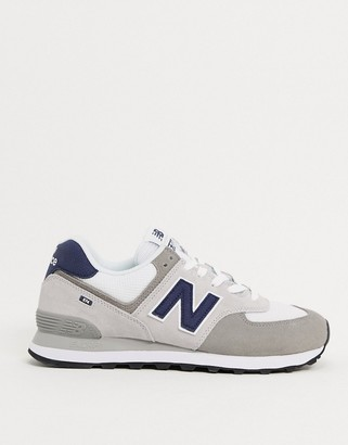 New Balance 574 trainers in light grey suede