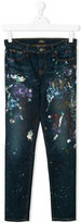 Ralph Lauren paint splatter jeans