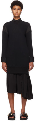 Sacai Black Sponge Sweat Dress