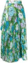 Richard Quinn floral pleated skirt