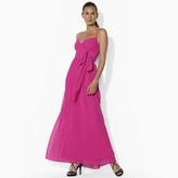 Ralph Lauren Shirred Halter Dress