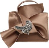 N°21 Knotted Satin Bag W/ Bird Appliqué