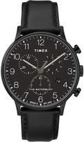 Timex Waterbury Classic Men's Black Leather Strap Watch