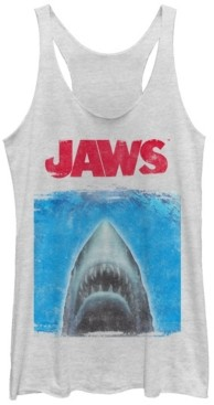 Fifth Sun Jaws Movie Poster Tri-Blend Racer Back Tank