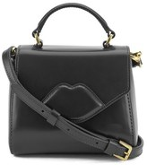Lulu Guinness Women's Izzy Mini Lip Crossbody Black