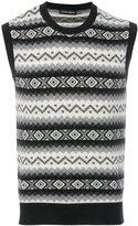 Alexander McQueen geometric knit vest - men - Cashmere - L
