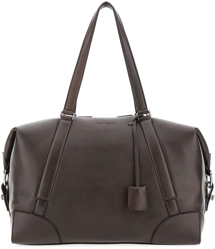 Salvatore Ferragamo Embossed Logo Duffle Bag