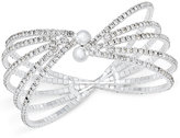 INC International Concepts Silver-Tone Crystal Multi-Row Flex Cuff Bracelet, Only at Macy's