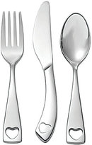 Oneida Little Love Heart 3-Piece Baby Stainless Steel Flatware Set