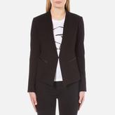 Karl Lagerfeld Women's Ikonik Punto Blazer Black
