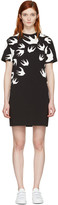 McQ by Alexander McQueen Black Swallows T-Shirt Dress