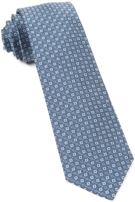 The Tie Bar Whale Blue United Medallions Tie